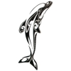 Tribal Dolphin Temporary Tattoos