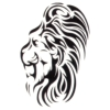 Tribal Lion Temporary Tattoos