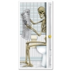 Halloween Door Cover – Skeleton Restroom
