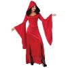 Madame Scarlet Dress with Hood Adult Costume