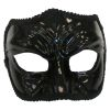 Black Male Venetian Half Mask