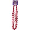 Mardi Gras Valentine Red Heart Throw Beads