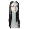 Deluxe Vampira Wig Black With White Stripe