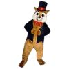 Sly Fox With Top Hat Mascot - Sales