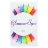 Rainbow Eyelashes with Black Tinsel