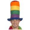 Rainbow Tall Top Hat