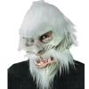 White Warrior Mask with Moving Mouth