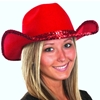 Red Cowboy Hat with Sequins