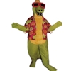 Awesome Alligator Mascot. This Awesome Alligator mascot comes complete with head, body, hand mitts and foot covers. This is a sale item. Manufactured from only the finest fabrics. Fully lined and padded where needed to give a sculptured effect. Comfortable to wear and easy to maintain. All mascots are custom made. Due to the fact that all mascots are made to order, all sales are final. Delivery will be 2-4 weeks. Rush ordering is available for an additional fee. Please call us toll free for more information. 1-877-218-1289