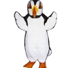 Puffin Penguin Mascot. This Puffin Penguin mascot comes complete with head, body, hand mitts and foot covers. This is a sale item. Manufactured from only the finest fabrics. Fully lined and padded where needed to give a sculptured effect. Comfortable to wear and easy to maintain.   All mascots are custom made. Due to the fact that all mascots are made to order, all sales are final. Delivery will be 2-4 weeks. Rush ordering is available for an additional fee. Please call us toll free for more information. 1-877-218-1289.