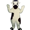 Calvin Calf Mascot. This Calvin Calf mascot comes complete with head, body, hand mitts, foot covers, hat, shirt  and shoes.  This is a sale item. Manufactured from only the finest fabrics. Fully lined and padded where needed to give a sculptured effect. Comfortable to wear and easy to maintain. All mascots are custom made. Due to the fact that all mascots are made to order, all sales are final. Delivery will be 2-4 weeks. Rush ordering is available for an additional fee. Please call us toll free for more information. 1-877-218-1289