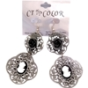 Cameo Pierced Earrings