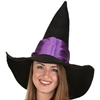 Witch Hat with Purple Band