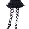 Black and White Chevron Illusion Print Tights