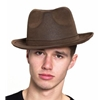 Brown Gangster Hat