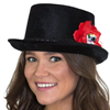 Day of the Dead Velvet Top Hat