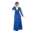 Blue Victorian Nanny Adult Costume Great for Mary Poppins