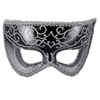 Black and Silver Glitter Mask