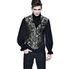 Gothic Embroidered White Gold Brocade Collard Waistcoat