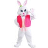 Easter Bunny Female Deluxe Mascot Style Costume with Jumbo Carrot