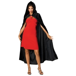 Crushed Velvet Hooded Cloak
