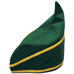 Green Velveteen Elf Hat
