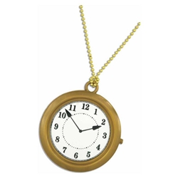 Rapper's Clock Necklace/White Rabbit Watch