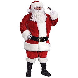 Regency Plush Crimson Santa Suit