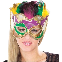 Venetian Mask with Feathers