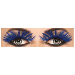 Blue Feather Eyelashes