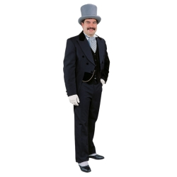 Black Formal Tailsuit Deluxe Adult Costume