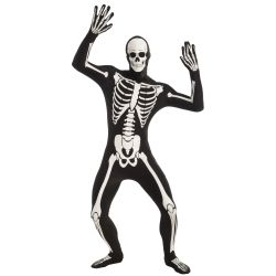 Disappearing Man Glow-in-the-Dark Skeleton Skinsuit Adult Costume