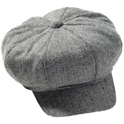 Roaring 20's Herringbone Newsboy Mini-Apple Hat