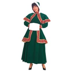 Long Victorian Christmas Caroler Deluxe Adult Costume