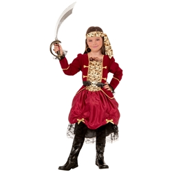 Girl Privateer Pirate Kids Costume