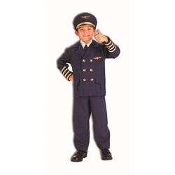 Airline Pilot Kids Costume