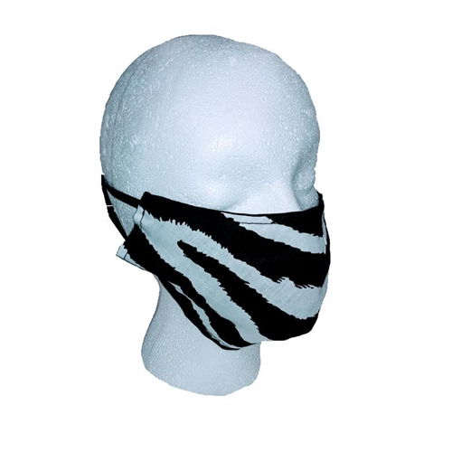 Zebra Print Face Mask Adult, Youth, or Toddler