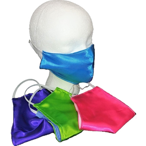 Bright Color Satin Face Mask Adult or Youth