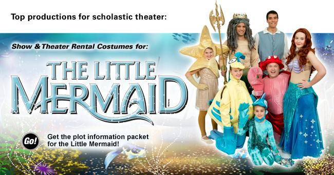 The Little Mermaid Rental Costumes