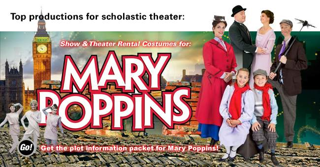 Mary Poppins Theatrical Rental Costumes Banner