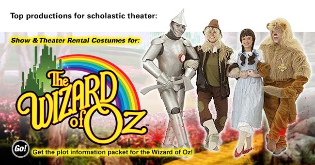 Wizard of Oz Theatrical Costume Rentals