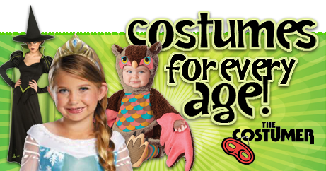 Shop Halloween Costumes and Theatrical Costumes for Adult Costumes, Kids Costume, Teen Costumes, Infant Costumes, and Toddler Costumes