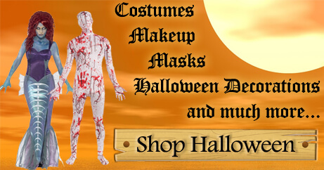 Shop womens halloween costumes, mens halloween costumes, girls halloween costumes, boys halloween costumes, accessories, decorations, masks, makeup, and more.
