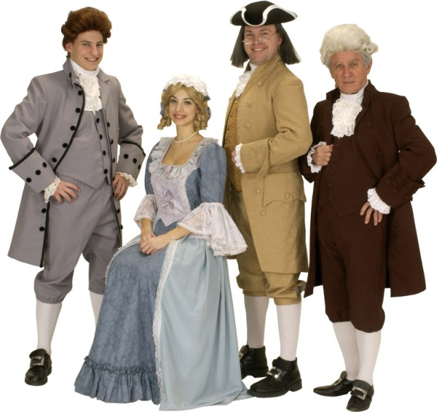Rental Costumes for 1776 - Thomas Jefferson, Abigail Adams, Benjamin Franklin, John Adams