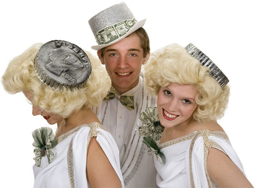 "Rental Costumes for 42nd Street - ""We're in the Money"" female and male chorus"