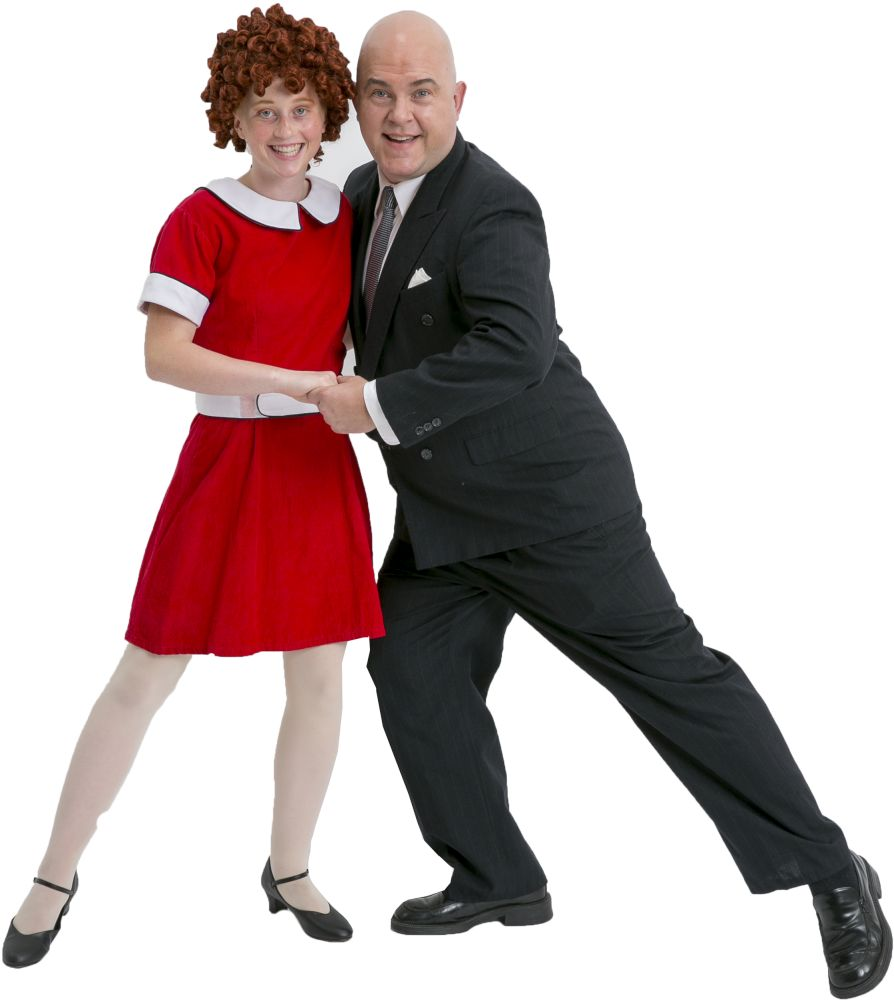 Rental Costumes for Annie - Annie and Daddy Warbucks