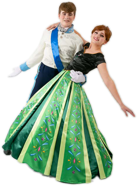 Frozen Anna Coronation Dress and Prince Hans Rental Costumes