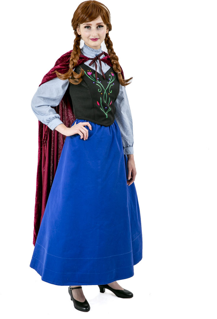 Frozen Anna Travelling Dress Rental Costume