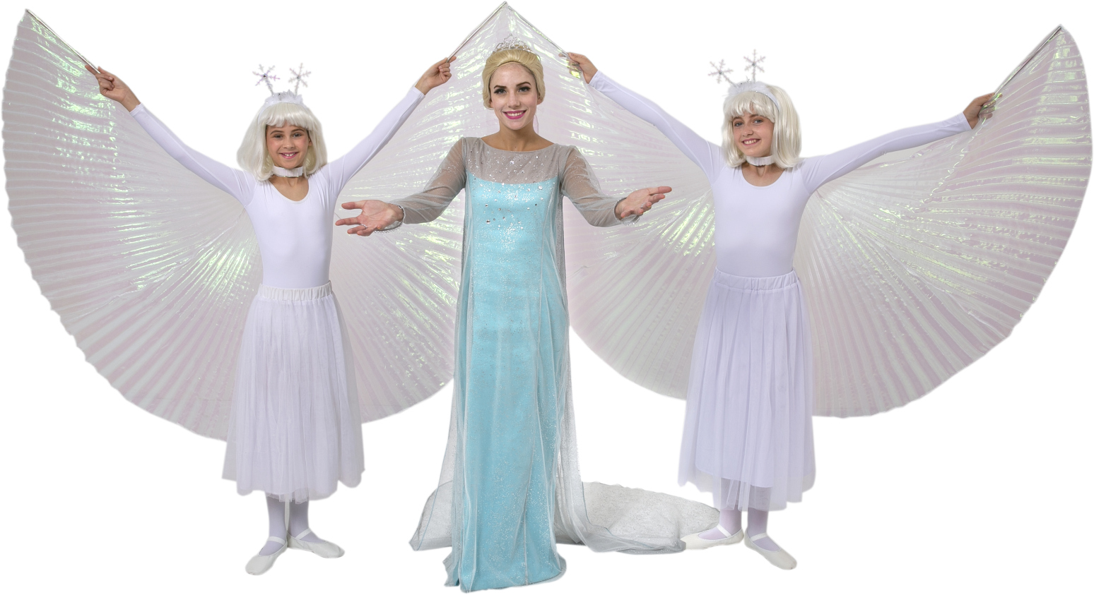 Frozen Elsa Ice Dress and Snow Chorus Rental Costumes