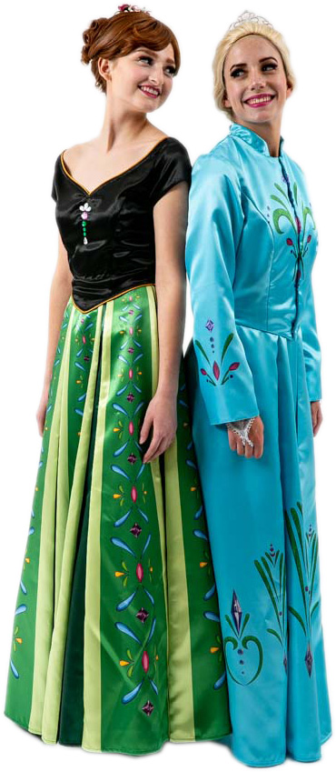 Frozen Elsa and Anna in Coronation Dresses Rental Costumes